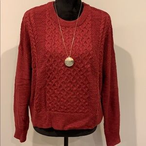 Cranberry Sweater NWOT